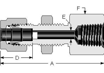 Bulkhead Female NPT Connector 1/8""