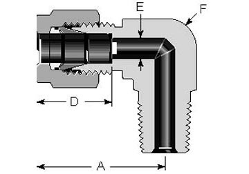 Elbows Male NPT Thread 1/4""